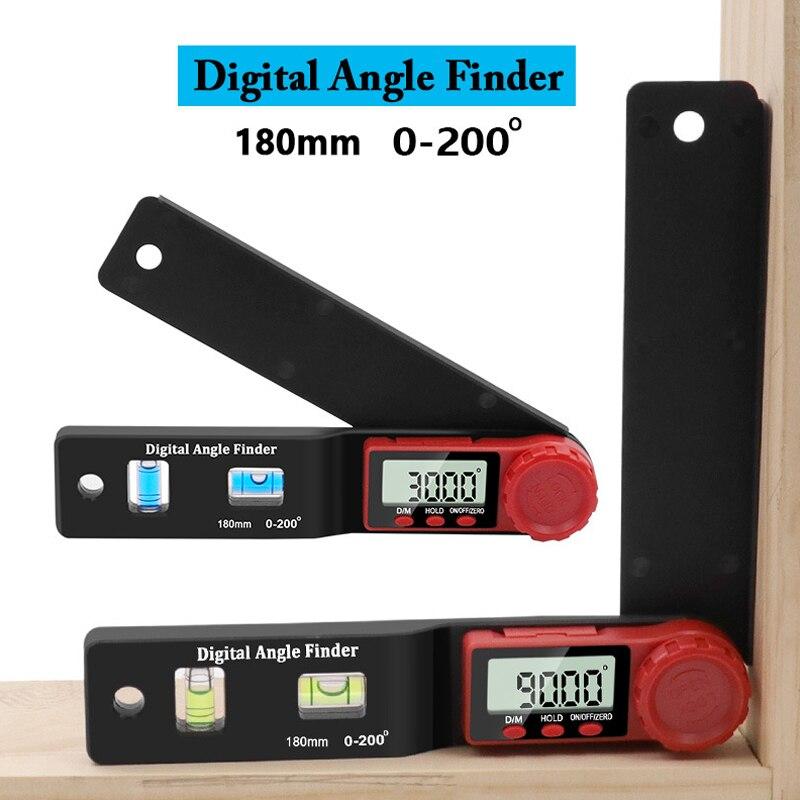 デジタル分度器アングルファインダー傾斜計電子マグネットなしレベルアングルスロープレベル 360 度テスト定規