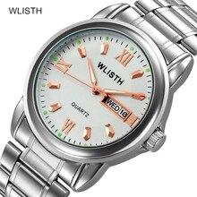 цена Wlisth Watch Business Casual Calendar Watch Waterproof Steel Belt Men Watch Automatic Non-Mechanical Watch онлайн в 2017 году