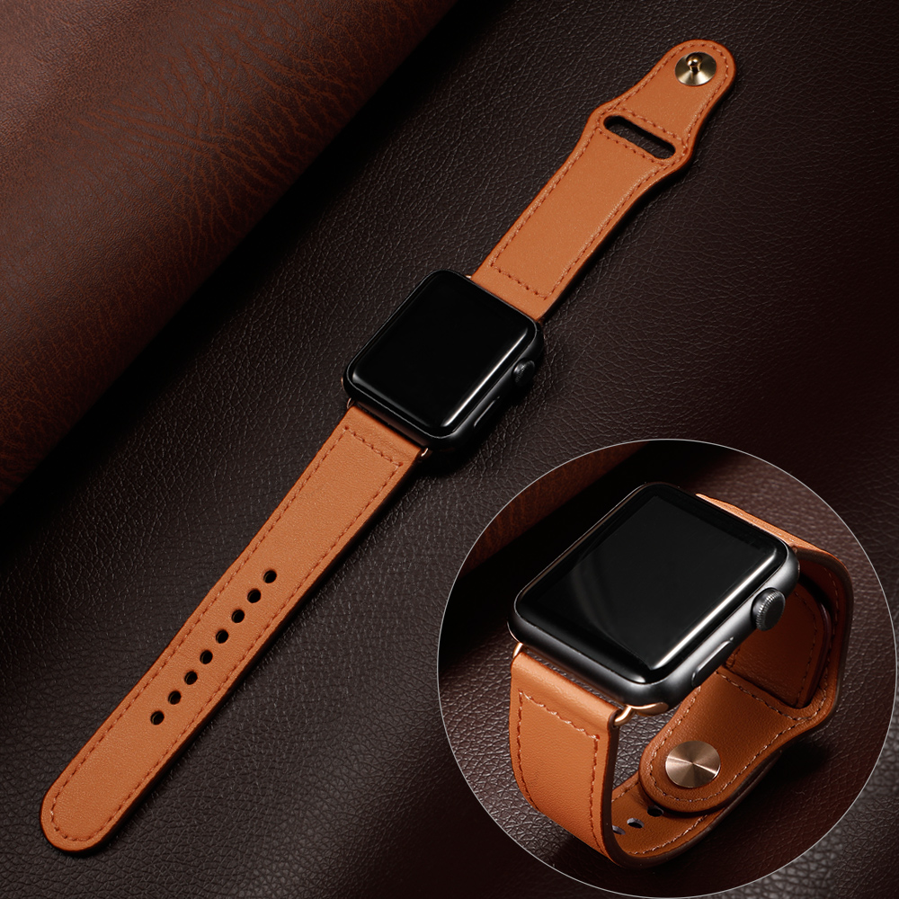 Leather Loop Strap For Apple Watch Band 44 Mm 40mm IWatch Band 42mm 38mm Genuine Leather Watchband Bracelet Apple Watch 5 4 3 21