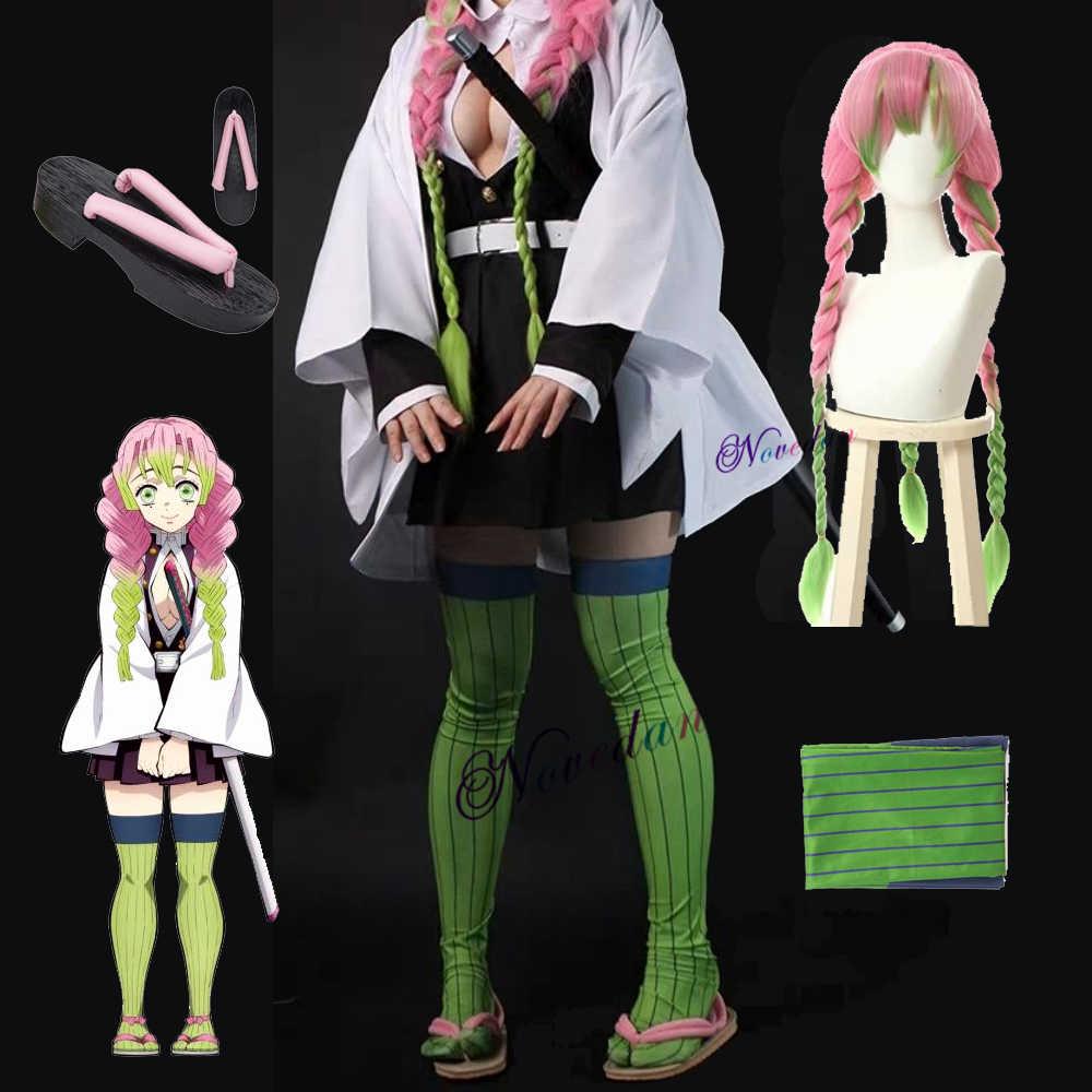 Kanroji Mitsuri Costumes Anime Demon Slayer Kimetsu No Yaiba Mitsuri Kanroji Cosplay Wigs Kisatsutai Uniforms Costumes Anime Costumes Aliexpress ꩜ — mitsuri kanroji moodboard. kanroji mitsuri costumes anime demon