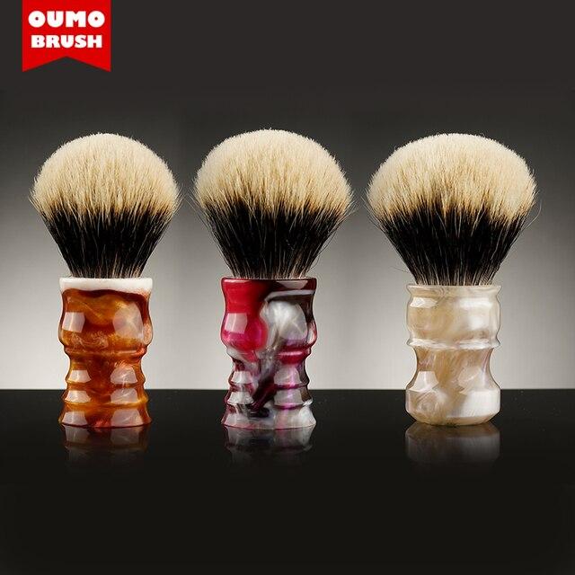OUMO מברשת קידום בעבודת יד גילוח מברשת ידית