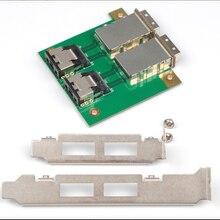 Мини SAS внутренний SFF-8087 Sas 36P 2 Порты и разъёмы Внешний HD Sas 26P SFF-8088 спереди Панель PCI SAS адаптер карт