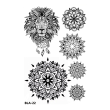 Temporary Tattoos Sticker Necklace Body-Art Lotus-Flower/tiger Waterproof