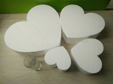 Polystyrene Styrofoam Foam heart bake cake model with sugar sticky flowers make gifts for friends DIY materials thickness(10cm)