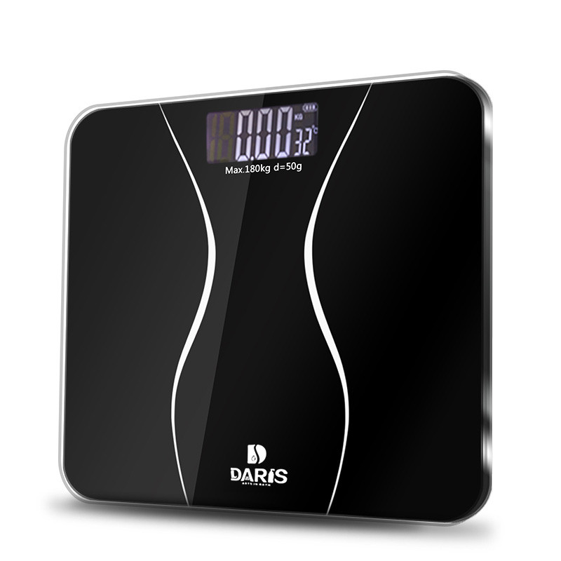 SDARISB Bathroom-Scales Weight-Health-Balance-Scale Glass Floor-Body Digital Electric title=