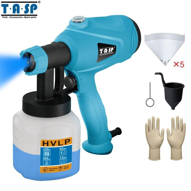 TASP 120 V/230 V 400W חשמלי אקדח ריסוס HVLP מרסס צבע ציור כלים מדחס עם זרימת מתכוונן בקרת ומסננת