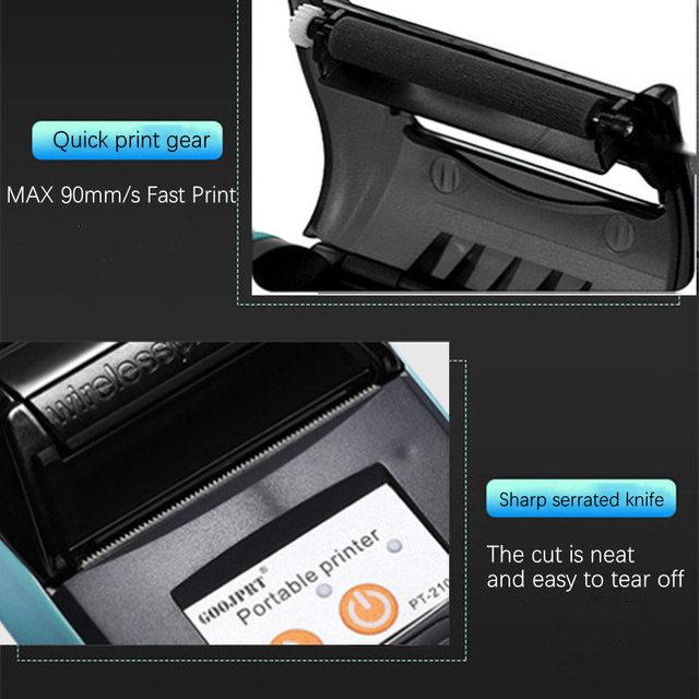 58mm Bluetooth Pocket Portable Thermal Receipt Printer Mini Wireless Notes Phone Printer Android IOS PC Free APP Bill Impresoras 3