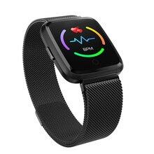عداد الخطى النشاط المقتفي مقاوم للماء جهاز تعقب للياقة البدنية مراقب معدل ضربات القلب الرجال النساء Smartwatch الساخن الفاخرة Y7 ساعة ذكية IP67