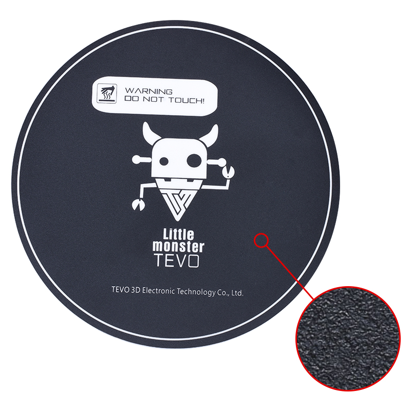 Ctzrzyt 1Pc 3D Printer Heat Bed Sticker With Tape 200Mm Round Print Build Plate Tape For Kossel 3D Printer