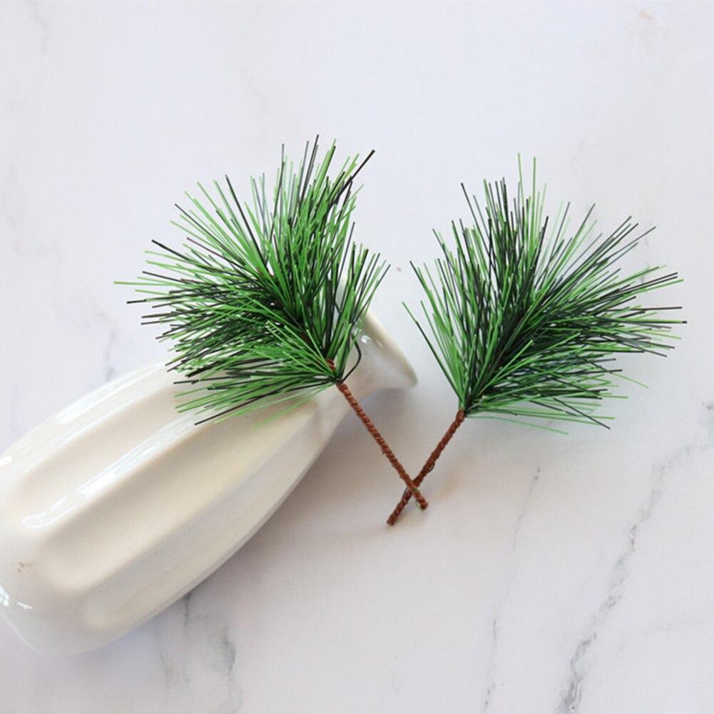 1/10PCS Kunstmatige Groen Dennennaald voor Bruiloft Kerst Decoratie DIY Craft Gift Xmas Tree Decor - 4
