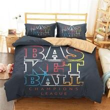 Одеяло для кровати пододеяльник 3d черный баскетбольный спортивный