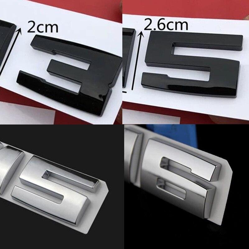 New Black Chrome Silver Car Sticker 3D ABS Decal Badge Emblem Logo For BMW M E83 E70 E53 F15 M2 M3 M5 M6 E46 E60 Car Accessories