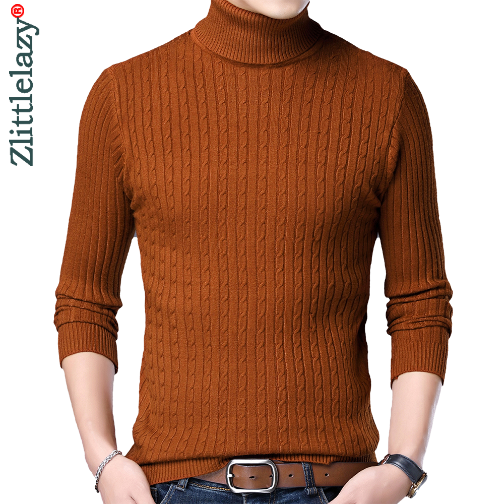 Turtleneck Sweater Clothing Pullovers Knitted Winter Fashion Casual Warm New Mens 81332