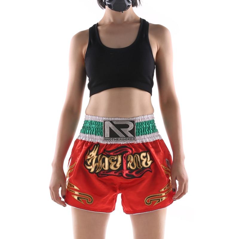 Calção feminino estampado de mma, calções kickboxing