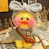 30CM Pink lalafanfan Kawaii Cafe Mimi Yellow Duck Plush Toy Cute Stuffed Doll Soft Animal Dolls Kids Kawaii Plush Toys Rag Doll