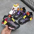 Детская обувь для бега  спортивные удобные кожаные кроссовки для мальчиков и девочек  баскетбольные хлопковые ботинки  детская теплая неск...