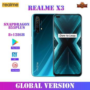 Перейти на Алиэкспресс и купить Realme X3 глобальная Версия 8 ГБ 128 6,6 ''ультра 120 Гц Экран 64-мегапиксельная четырехъядерная камера NFC Snapdragon 855 плюс мобильный смартфон