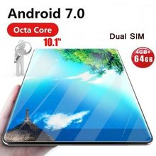Global Tablet Android 7.0 OS 10 inch tablet 4G FDD LTE Octa Core 4GB RAM 32GB ROM 1280*800 IPS 2.5D Glass Kids Tablets 10 10.1(China)