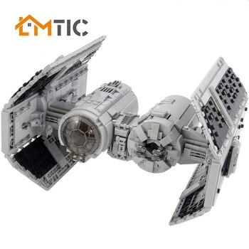 MOC nueva Corbata con estrellas MOC-22018 Fit serie Star Wars bloques de construcción figuras bombardero ladrillos niños luchador colección juguetes chico regalos