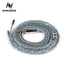 Yinyoo 16 Core Verbesserte Silber Überzogene Kupfer Kabel 2.5/3.5/4,4 MM Mit MMCX/2pin/QDC TFZ Stecker Für KZ ZS10 ZSN Pro AS16 ZSX