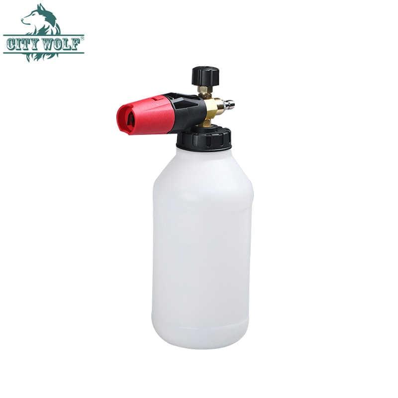 2L Mesin Cuci Mobil Salju Busa Nozzle Sabun Sprayer Lance untuk Tekanan Tinggi Mesin Cuci Aksesoris Jendela Lantai Kolam Renang Taman Alat Pembersih