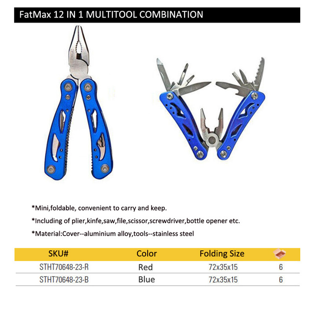 Stanley pocket clamp stripper fold wire cutter Multitool multifunction multi tool plier multipurpose outdoor survive repair mini 6