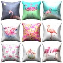 Flamingos love birds animal throw pillow cushion cover decorative pillow case home sofa decorative cushion covers pillowcase