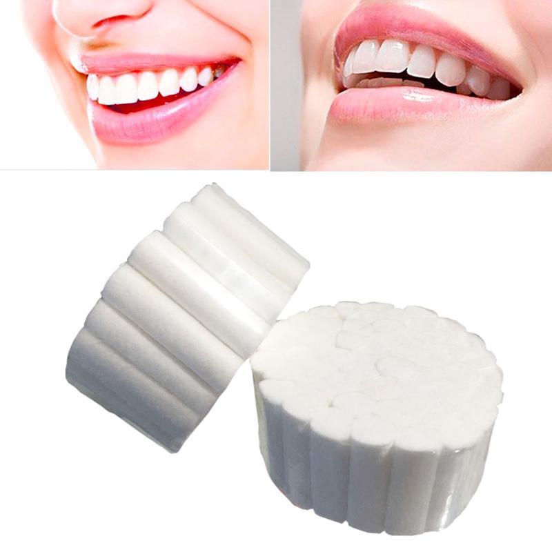 1 Box Professional Disposable Dental Stanch Bleeding Gum Hemostasis Rolls Cotton Cotton Medical Blood-sucking Rolls Tooth D Y1L2