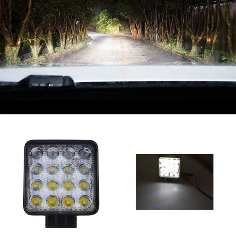 48 Вт автомобильный светильник s 16 светодиодный s холодный белый, 4-дюймовый рабочий светильник светодиодный для автомобиля, грузовика для вн...