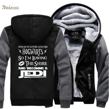 I Never Got My Acceptance Letter From Hogwarts-So Become A Jedi Funny Creative Hoodies 2018 Winter Sweatshirts Men Male Jacket