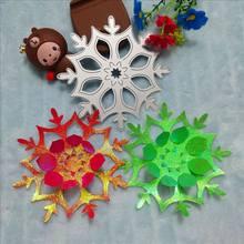 Molde de corte de metal bonito do floco de neve molde de corte diy cartão de papel de corte molde de corte de metal