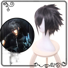 Ktip Up Game Noctis Lucis Caelum Cosplay Wig Final Fantasy XV Costume FF15 XV Anime Wigs Halloween Costumes Hair + Wig Cap