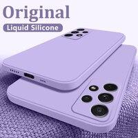 Per Samsung A41 A31 A51 A71 custodia quadrata in Silicone liquido per Samsung S21 S10 S9 S20 FE A50 A70 A22 A32 A42 A52 A72 A82 A21s Cover