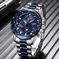 Relogio Masculino 2019 новые часы для мужчин люксовый бренд LIGE Хронограф Мужские спортивные часы водонепроницаемые полностью Стальные кварцевые муж...
