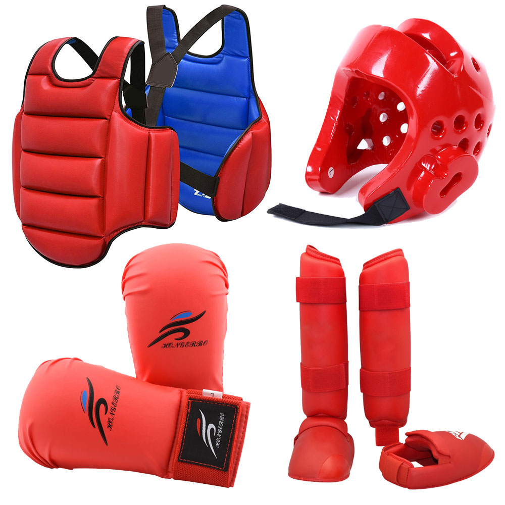 Combat Sports MMA Training Sparring Shin Guards Red