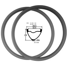 29er горный диск велосипедные диски 38,5x28 мм ассиметричный бескамерный диск mtb диски XC 380 г hookless углеродный обод mtb ERD 583 мм