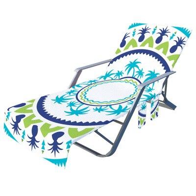 Impressão geométrica microfibra toalha de praia cadeira