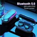 Y30 tws toque da impressão digital bluetooth 5.0 fones de ouvido estéreo sem fio 4d com cancelamento ruído ativo gaming headset