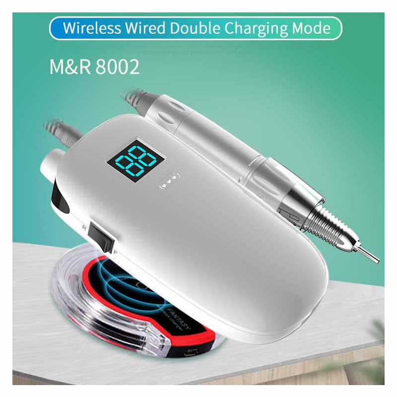 Oakmoss 30000rpm Rechargeable Wireless Charge Electric Nail Drill Machine Nail Polisher Cordless Portable Manicure Set