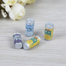 4pcs Cute Mini Cans 1:12 scale Miniature Doll House Furniture Soda Drink DIY Dollhouse Kitchen Accessories(China)