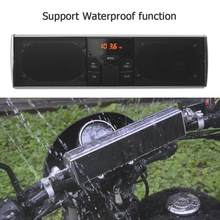 Waterproof Motorcycle Bluetooth Audio Sound System LED Display APP Control MP3/TF/USB FM Radio Stereo Speakers Moto Accessories(China)