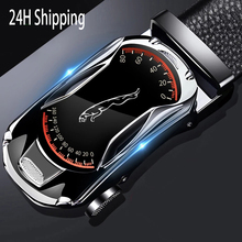 Belts for 3.5cm Width Sports Car Brand Fashion Automatic Buckle Black Genuine Leather Men