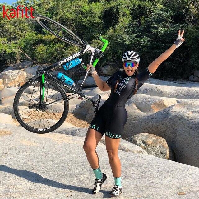 Kafitt nova camisa de ciclismo de manga curta feminino terno ciclismo equipe roupas de montanha bicicleta macaquinho feminino 4