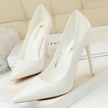 BIGTREE buty damskie czółenka modne szpilki buty czarne różowe białe buty damskie buty ślubne damskie szpilki damskie obcasy 2021 tanie i dobre opinie podstawowe CN (pochodzenie) Z niewielkim szpicem Super Wysokiej (8cm-up) Dobrze pasuje do rozmiaru wybierz swój normalny rozmiar