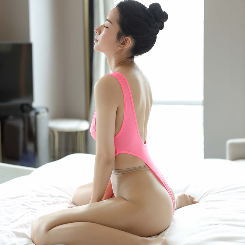 Women Porn Allure Bodysuits Sexy See Through High Cut Nude ...