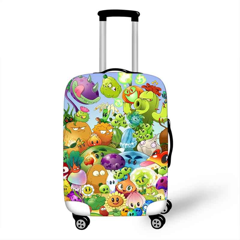 18-32 Inch Plants VS Zombie Accessories Luggage Cover For Boys Girls Suitcase Protective Cover Elastic Trolley Bag