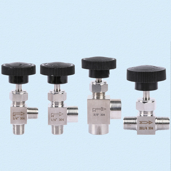 1PCS 1/8 1/4 3/8 1/2 BSP Female Male Angle Needle Valve Crane Elbow 304 Stainless Flow Control Water Gas Oil 915 PSI nbsanminse kc throttle valve hydraulic flow control valve pt 1 4 3 8 1 2 3 4 high pressure industry parts