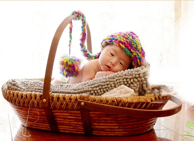 Newborn Photography Props Basket Children's Studio Woven Basket Baby Photo Baby Photo Portable Baby Weaving Basket Toy Gift