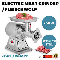 Stainless steel electric meat grinder 750W sausage filling machine meat grinder