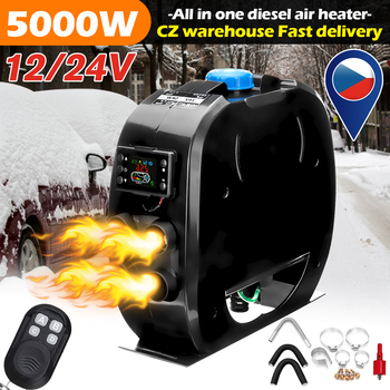 Efficient 12V Car Heater 12V/24V Parking 5KW Diesels With Remote Control LCD Monitor For RV Boat Truck Bus